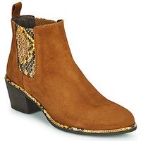 Sapatos Mulher Botins Regard NOISY V2 VELOURS SAFRAN Castanho
