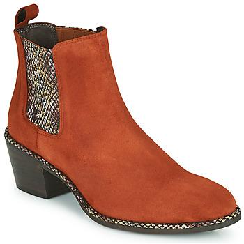 Sapatos Mulher Botins Regard NOISY V3 VELOURS TUILE Vermelho