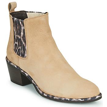 Sapatos Mulher Botins Regard NOISY V7 VELOURS SAFRAN Bege