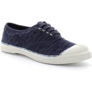 Sapatos Mulher Sapatilhas de ténis Bensimon Lacet Broderie Bleu