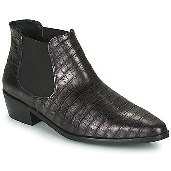 Sapatos Mulher Botas baixas Fericelli  Preto / Prata