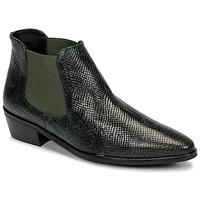 Sapatos Mulher Botas baixas Fericelli NANARUM Preto / Verde