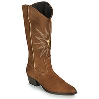 Sapatos Mulher Botas Fericelli NISCOME Camel / Ouro