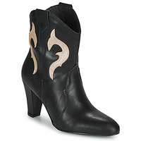 Sapatos Mulher Botins Fericelli NARLOTTE Preto / Ouro