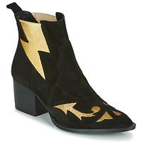 Sapatos Mulher Botins Fericelli NAUSSON Preto / Ouro