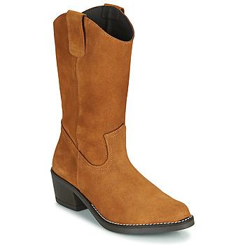 Sapatos Mulher Botas Casual Attitude NESCARGO Camel