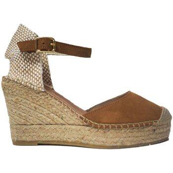 Sapatos Mulher Alpargatas Vidorreta Cuña  11600 Cuero Castanho