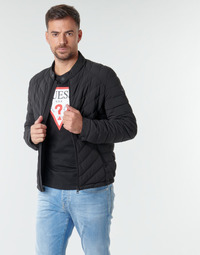 Textil Homem Quispos Guess SUPER FITTED JACKET Preto