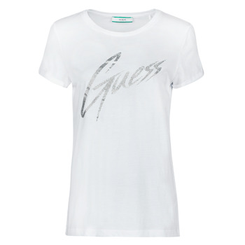 Textil Mulher T-Shirt mangas curtas Guess SS CN IVONNE TEE Branco