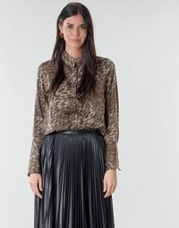 Textil Mulher Tops / Blusas Guess VIVIAN Leopardo