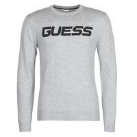 Textil Homem camisolas Guess LOGO SWEATER Cinza
