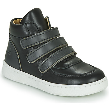Sapatos Rapaz Sapatilhas de cano-alto Citrouille et Compagnie NOSTI Preto / Cinza