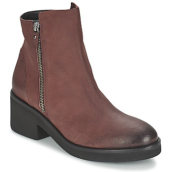 Sapatos Mulher Botas baixas Vic ASCILLE Bordô