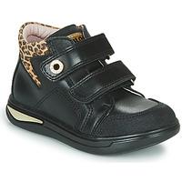 Sapatos Rapariga Sapatilhas de cano-alto Pablosky 490611 Preto / Leopardo