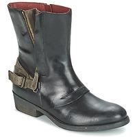 Sapatos Mulher Botas baixas Kickers AMERIKO Preto / Cinza