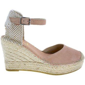 Sapatos Mulher Alpargatas Vidorreta Cuña  11600 Maquillaje Rosa