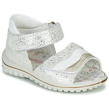Sapatos Rapariga Sandálias Primigi  Branco / Prata