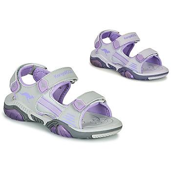Sapatos Criança Sandálias desportivas Kangaroos Sandalshine Cinza / Violeta