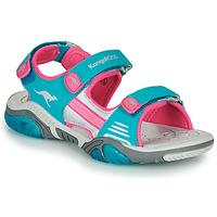 Sapatos Criança Sandálias desportivas Kangaroos Sandalshine Azul / Rosa