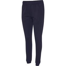 Textil Mulher Calças de treino Hummel Pantalon femme  hmlGO cotton bleu marine