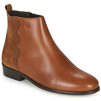 Sapatos Mulher Botas baixas Betty London HELOI Camel