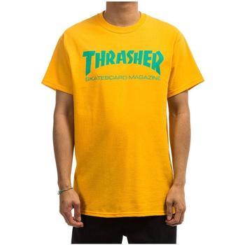 Textil Homem T-Shirt mangas curtas Thrasher TSTHRSHRMAG-GOLD amarelo