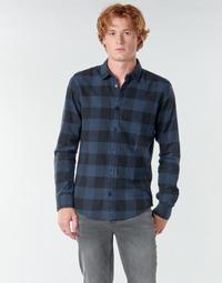 Textil Homem Camisas mangas comprida Only & Sons ONSGUDMUND Marinho / Preto