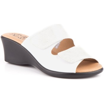 Sapatos Mulher Chinelos Cbp - Conbuenpie Sandalia de piel de mujer by TROPPA (R.ST) Blanc