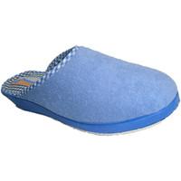 Sapatos Mulher Chinelos Made In Spain 1940 Thongs fechado toalha lisa em azul Soca azul