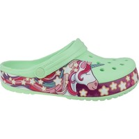 Sapatos Criança Chinelos Crocs Fun Lab Unicorn Band Clog Verde,Cor-de-rosa