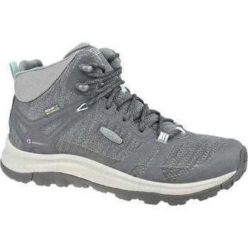 Sapatos Mulher Sapatos de caminhada Keen W Terradora II Mid WP Cinzento