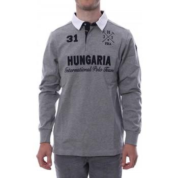 Textil Homem Polos mangas compridas Hungaria  Cinza