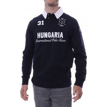 Textil Homem Polos mangas compridas Hungaria  Azul