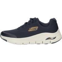 Sapatos Homem Sapatilhas de cano-alto Skechers 232040 Azul