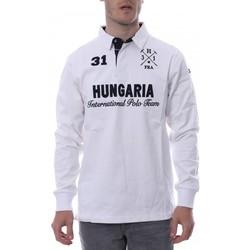 Textil Homem Polos mangas compridas Hungaria  Branco