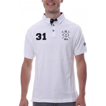 Textil Homem Polos mangas curta Hungaria  Branco