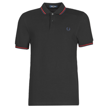 Textil Homem Polos mangas curta Fred Perry TWIN TIPPED FRED PERRY SHIRT Preto