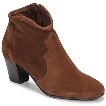 Sapatos Mulher Botins Betty London NORIANE Camel / Veludo