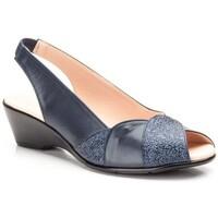 Sapatos Mulher Sandálias Cbp - Conbuenpie Sandalia de piel de mujer by TROPPA (R.ST) Bleu