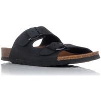 Sapatos Homem Chinelos Interbios 7206 Preto