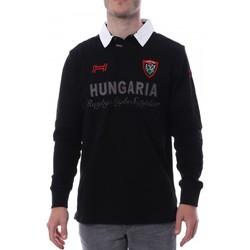 Textil Homem Polos mangas compridas Hungaria  Preto