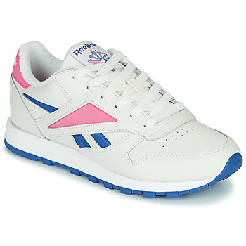 Sapatos Sapatilhas Reebok Classic CL LEATHER MARK Branco / Rosa
