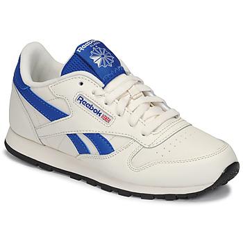 Sapatos Criança Sapatilhas Reebok Classic CLASSIC LEATHER Branco / Azul