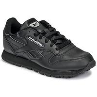 Sapatos Criança Sapatilhas Reebok Classic CLASSIC LEATHER Preto