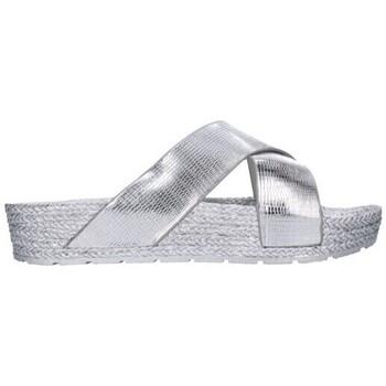 Sapatos Mulher Chinelos Kelara K1/229 Mujer Plata Argenté