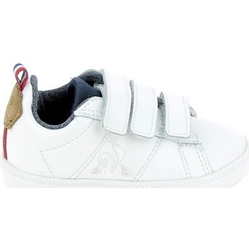 Sapatos Criança Sapatilhas Le Coq Sportif Courtclassic BB Blanc Marron Branco