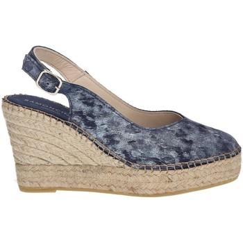 Sapatos Mulher Alpargatas Ramoncinas STONY TESHUB ESPADRILLES PONTOS DE CHOCOLATES AZUL