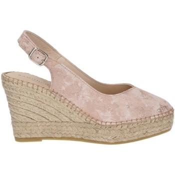 Sapatos Mulher Alpargatas Ramoncinas STONY TESHUB ESPADRILLES PONTOS DE CHOCOLATES ROSA