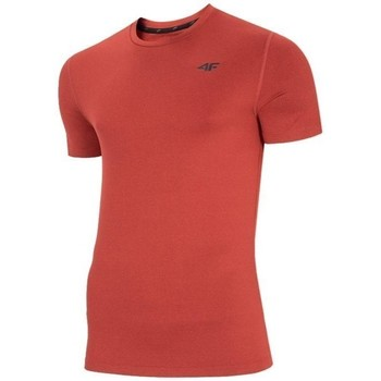 Textil Homem T-Shirt mangas curtas 4F TSMF003 Vermelho