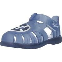 Sapatos Rapaz Sandálias Igor S10249 Azul
